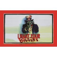 Playmat - Brains! Zombie Uncle Sam