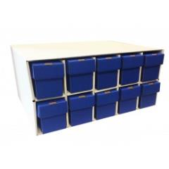 Penthouse Card House w/10 800ct Vertical Boxes - Blue