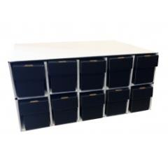 Penthouse Card House w/10 800ct Vertical Boxes - Black