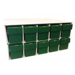 Penthouse Card House w/10 800ct Vertical Boxes - Green