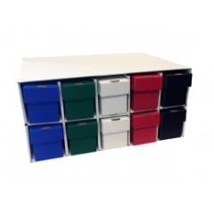 Penthouse Card House w/10 800ct Vertical Boxes - Multi Colored