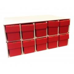 Penthouse Card House w/10 800ct Vertical Boxes - Red