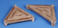 Triangular Wooden Platform (Painted)