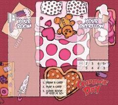 Garbage Day! - Pink Room Playmat
