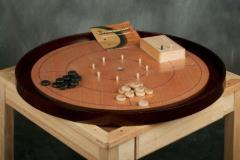 """Crokinole 26"""" Tournament Board - Mahogany Wood"""