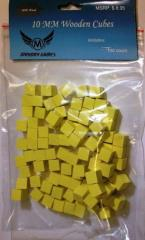 10mm Wooden Cube Tokens - Yellow