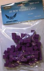 10mm Wooden Cube Tokens - Purple