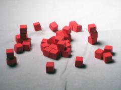 8mm Wooden Cubes - Red