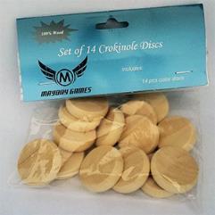 Crokinole Wooden Discs - Natural