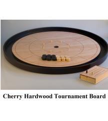 "Crokinole 26"" Tournament Board - Cherry Wood"