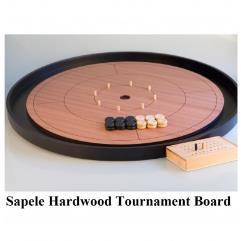 "Crokinole 26"" Tournament Board - Sapele Wood"