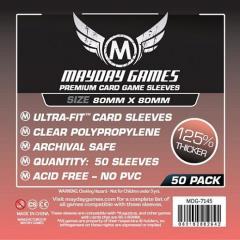 Premium Card Sleeves - 80mm x 80mm (10 Packs of 50)