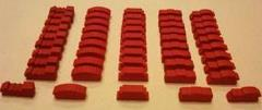 Train Token Set - Red (50 pcs.)