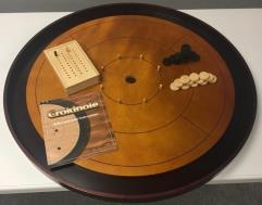"Crokinole 26"" Tournament Board - Premium Hardwood (2017 Edition)"