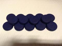 Crokinole Wooden Discs - Dark Blue