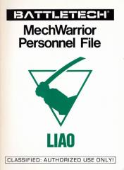 MechWarrior Personnel File - Liao
