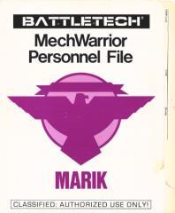 MechWarrior Personnel File - Marik