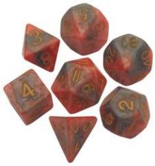 Poly Set Orange & Brown w/Gold (7)