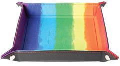 Dice Tray - Watercolor Rainbow