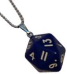D20 Necklace - Blue