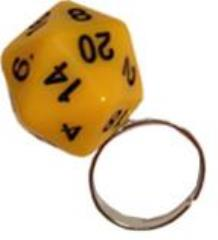 D20 Ring - Yellow