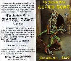 MicroQuest #1 - Death Test (1st Printing)