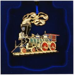2010 Cut Brass Train Ornament - 4-4-0 Locomotive