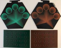 Cosmic Encounter Green & Brown Hex & Counter Sheets