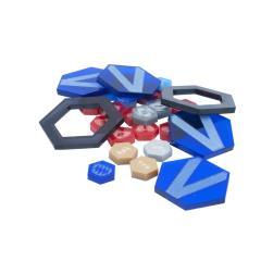 Dreadball Xtreme - Acrylic Counters, Blue