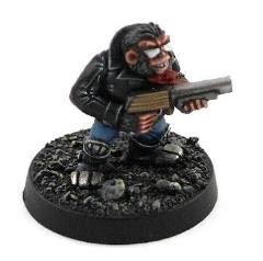 Chimp w/Stump Gun