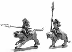 Cat Riders w/Spear
