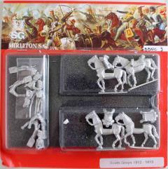 Scots Greys Regiment in Full Dress 1812-1815 w/Command - Walking