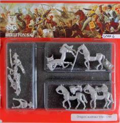 Austrian Dragoons w/Command 1791-1798 - Walking
