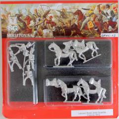 """French """"Red"""" Lancers of the Guard w/Command 1812 - Walking"""