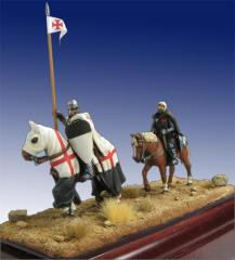 Templar Knight and Squire - XIII Century