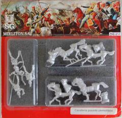 Piedmontese Heavy Cavalry w/Command in Campaign Dress - Charging