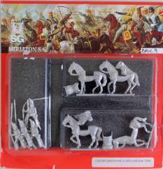 Piedmontese Lancers w/Command in Great Uniform - Walking