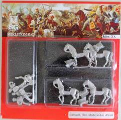 General Medici and Garibaldi w/2 Officers