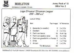 Etruscan League 399-280 BC