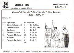Tullian Romans 578-400 BC