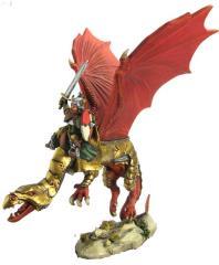 Dwarf Knight on Armored Dragon
