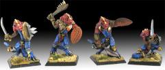 Iguanids w/Hand Weapon & Shield
