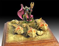 Lizardman Priestess w/Protoceratops Familiars