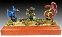 Lizardman Wizard & Companions
