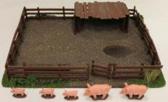 15mm Pig Sty w/Pigs