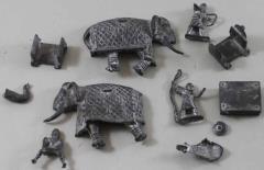 Unidentified War Elephant w/Crew
