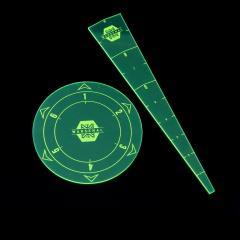Blast and Spray Templates - Green