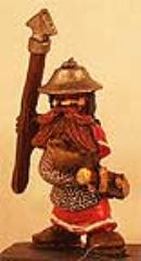 Dwarf #4 w/Spear and Round Helmet