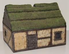 Dark Age House w/Thatched Roof