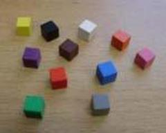 8mm Wooden Cubes - Assorted Colors